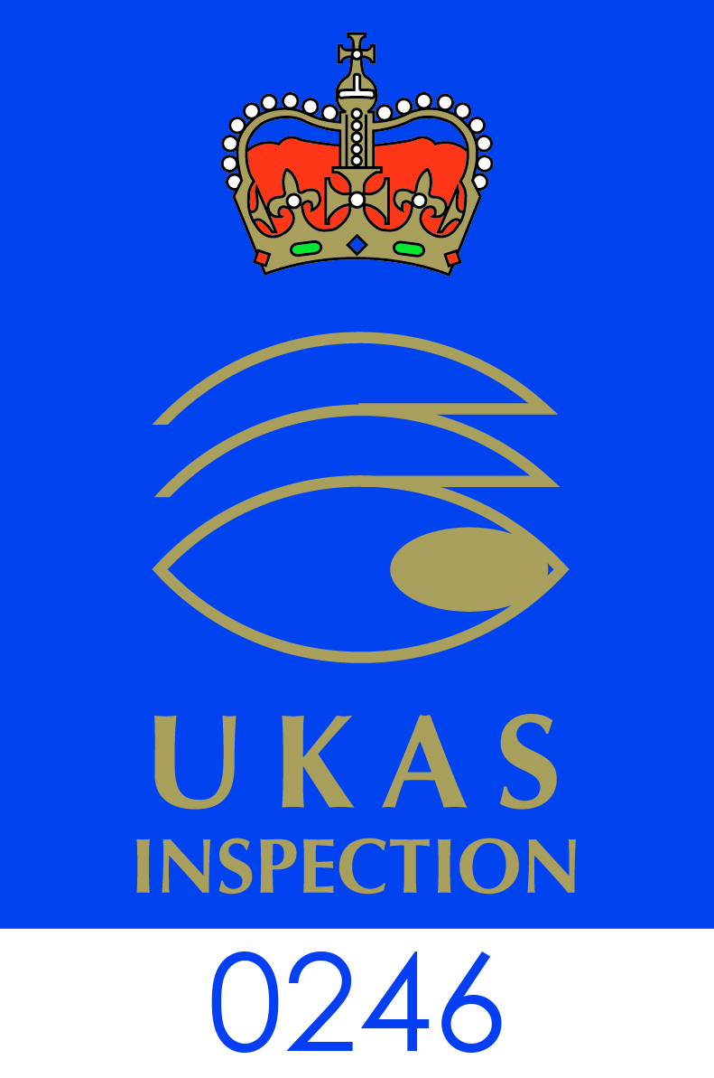 UKAS Logo CMYK Inspection Body 0246